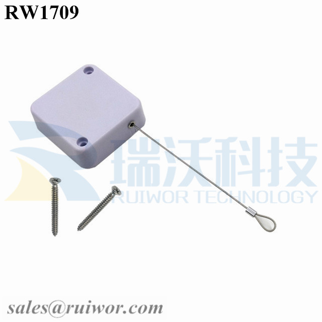 RW1709 Square Security Tether Plus Size Customizable Fixed Loop End