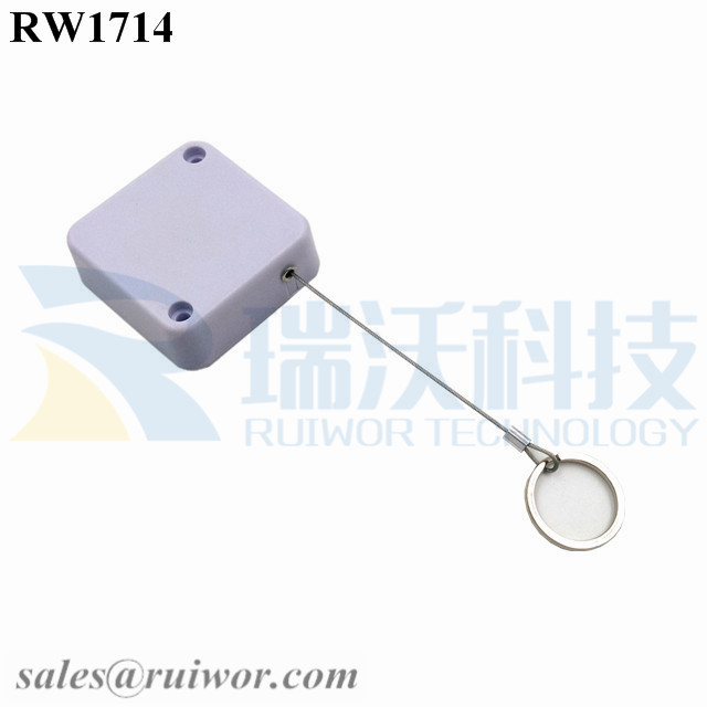RW1714 Square Security Tether Plus with Demountable Key Ring