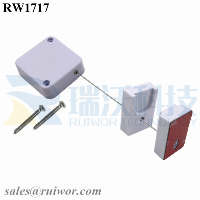 RW1717 Square Security Tether Plus Magnetic Clasps Cable Holder for Cell Phone Security Retail Display