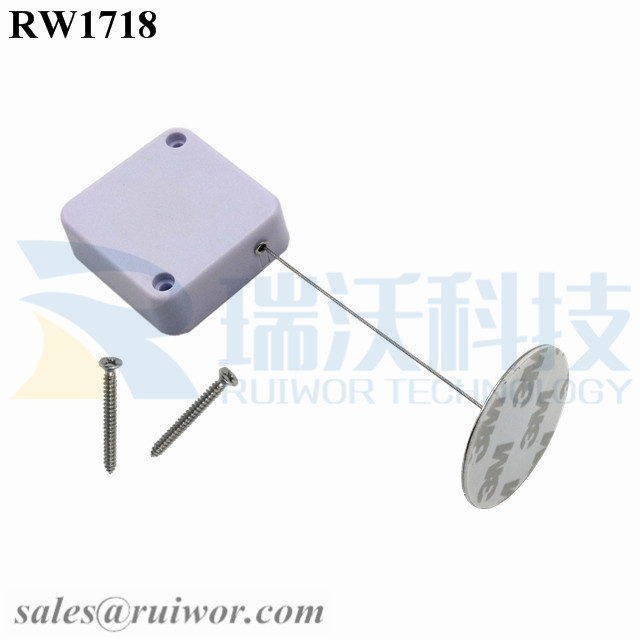 RW1718 Square Security Tether Plus Dia 38mm Circular Sticky metal Plate