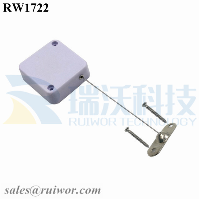 RW1722 Square Security Tether Plus 10x31MM Two Screw Perforated Oval Metal Plate Connector Installed by Screw