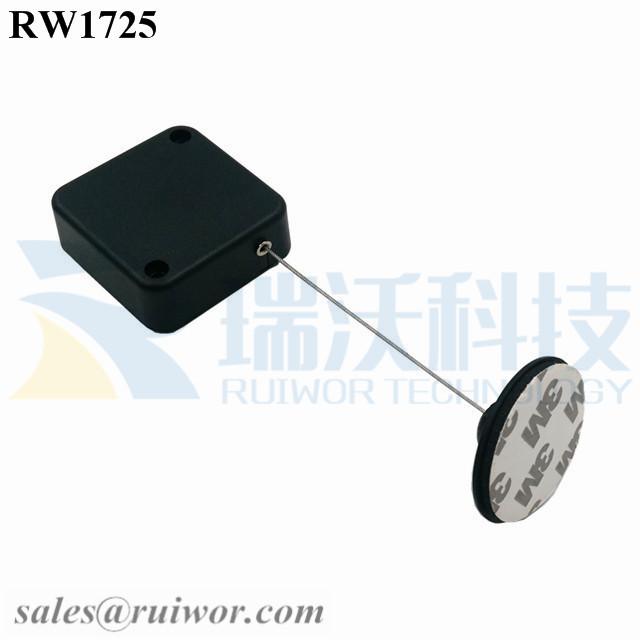 RW1725 Square Security Tether Plus Dia 38mm Circular Adhesive Plastic Plate