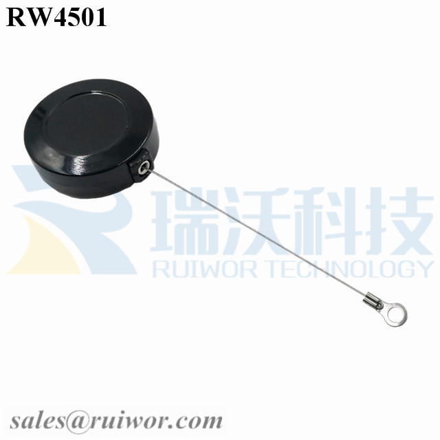 RW4501-Cord-Reels-Black-Box-With-Ring-Terminal-Inner-Hole-3mm-4mm-5mm-for-Option