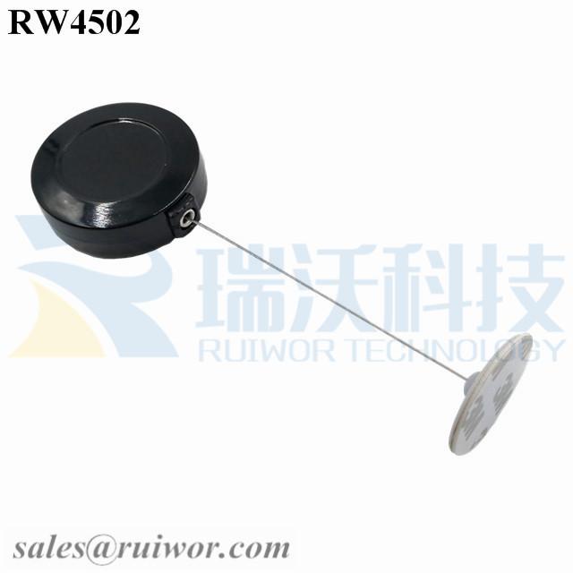 RW4502 Round Display Pull Box Plus Dia 30mm Circular Adhesive ABS Plate