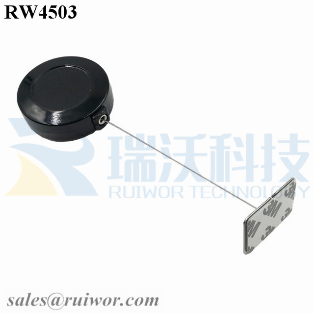 RW4503 Round Display Pull Box Plus Rectangular Adhesive metal Plate