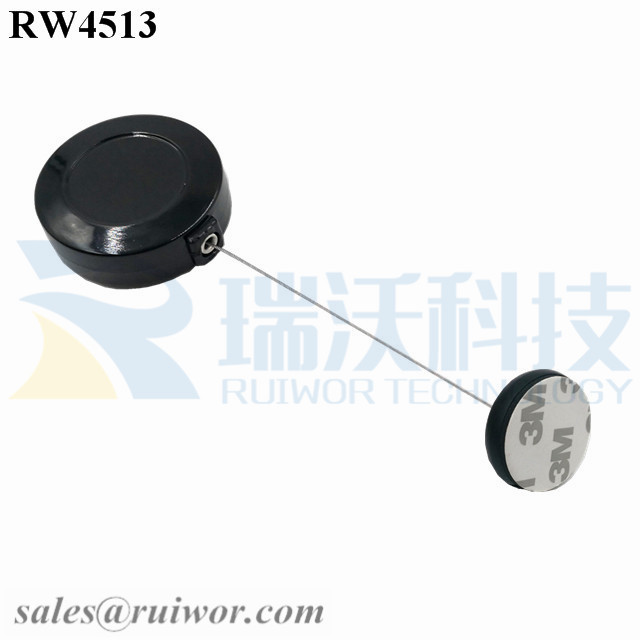 RW4513 Round Display Pull Box Plus Dia 30MMx5.5MM Circular Adhesive ABS Block