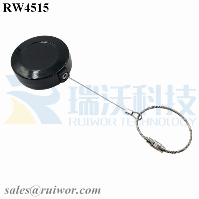 RW4515 Round Display Pull Box Plus Wire Rope Ring Catch