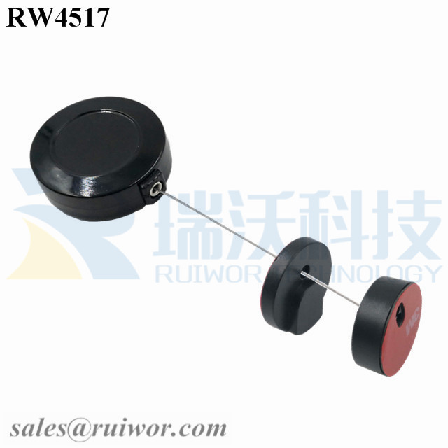 RW4517 Round Display Pull Box Plus Magnetic Clasps Cable Holder