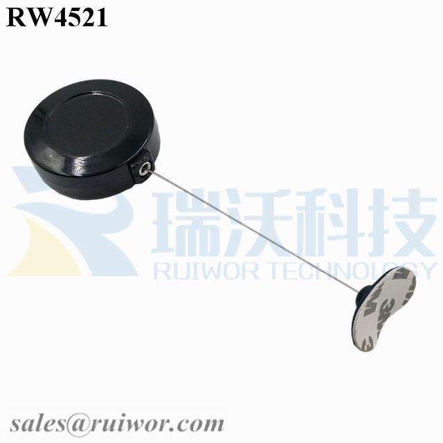 RW4521 Round Display Pull Box Plus 33x19MM Oval Sticky Flexible Rubber Tips