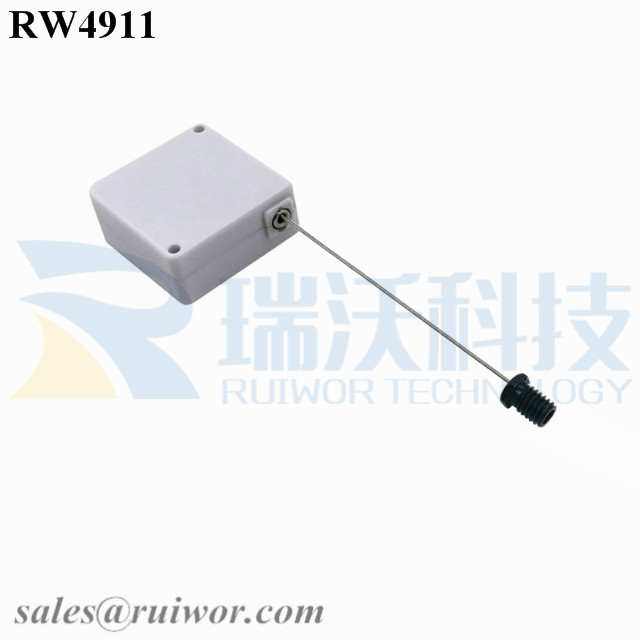 RW4911 Square Ratcheting Retractable Tether Plus Stop Function Plus M6x8MM /M8x8MM or Customized Flat Head Screw End