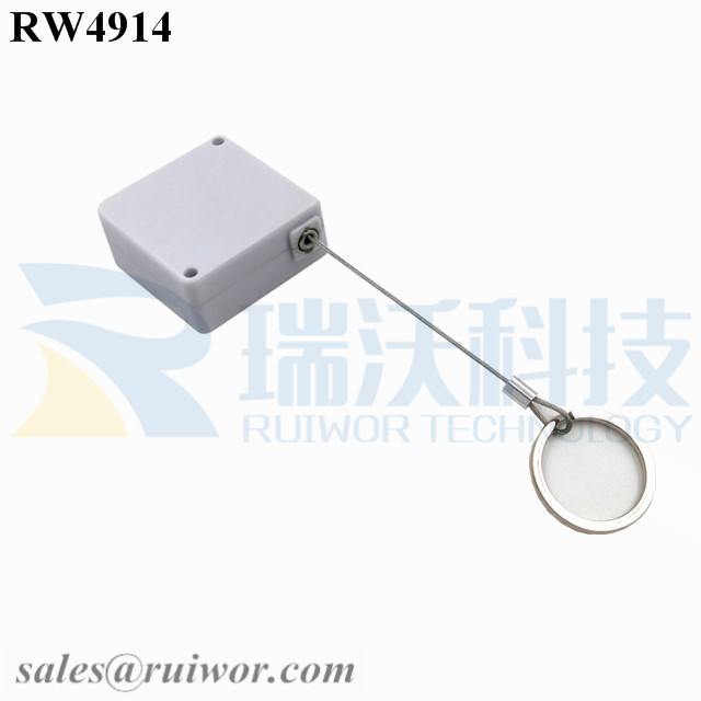 RW4914 Square Ratcheting Retractable Tether Plus Ratchet Function and Demountable Key Ring