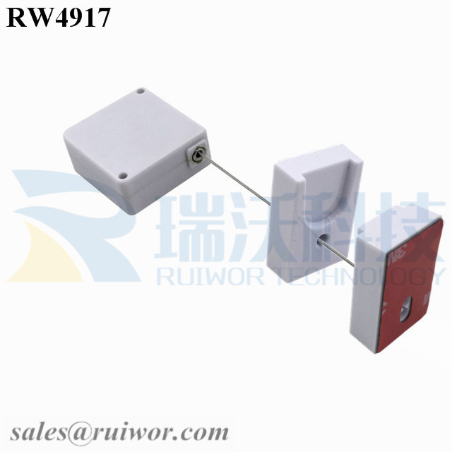 RW4917 Square Ratcheting Retractable Tether Plus Ratchet Function and Magnetic Clasps Cable Holder
