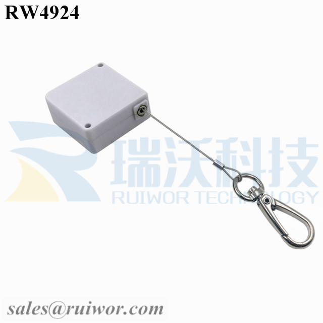 RW4924 Square Ratcheting Retractable Tether Plus Pause Function and Key Hook