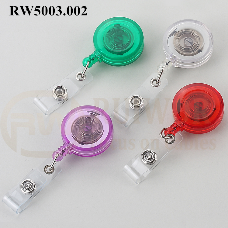 Factory Cheap Hot Retractable Steel Cable Reel - RW5003.002 ABS Material Badge Reel – Ruiwor