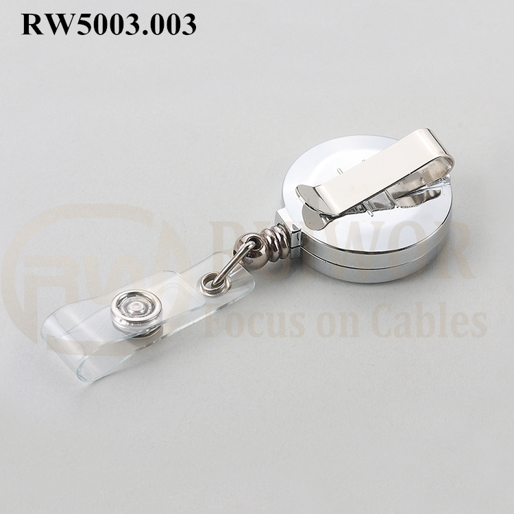 PriceList for Nurse Badge Reel - RW5003.003 ABS Material Badge Reel With Chromed Surface – Ruiwor