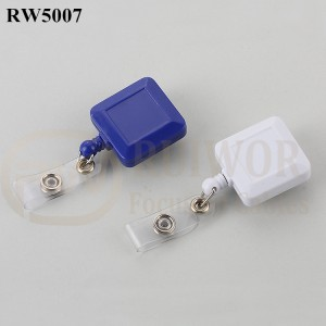 Wholesale Retractable Cable Reels - RW5007 Square Shape ABS Material Badge Reel – Ruiwor