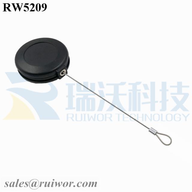 RW5209 Round Anti Theft Retractor Plus Size Customizable Fixed Loop End