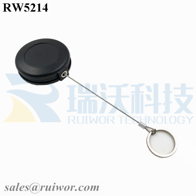 RW5214 Round Anti Theft Retractor Plus with Demountable Key Ring