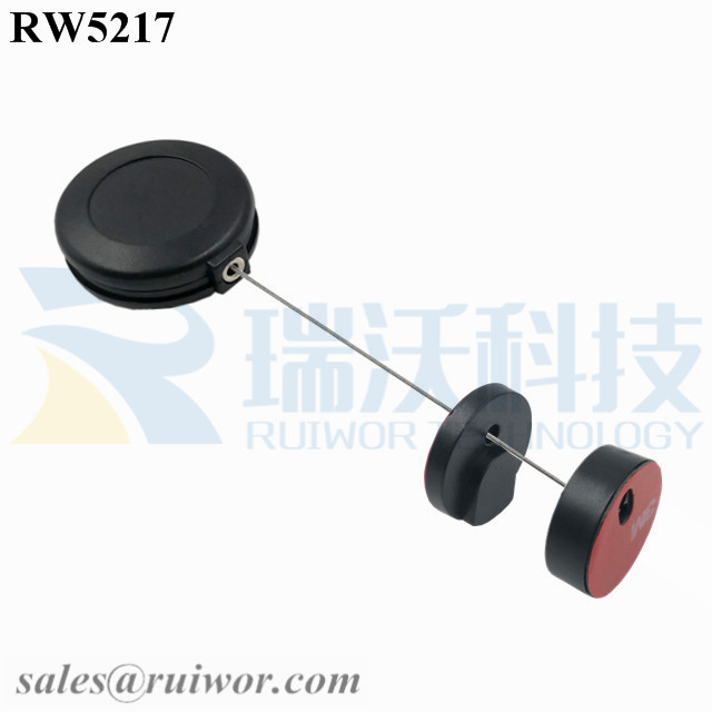 RW5217 Round Anti Theft Retractor Plus Magnetic Clasps Cable Holder