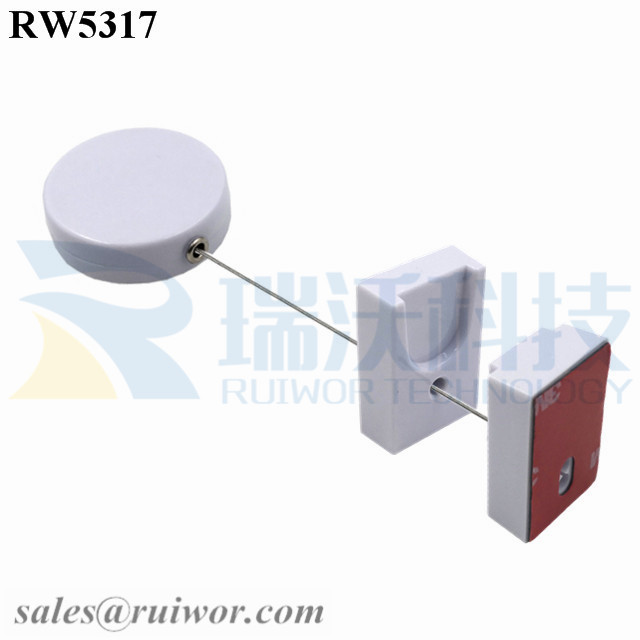 RW5317 Round Security Display Tether Plus Magnetic Clasps Cable Holder