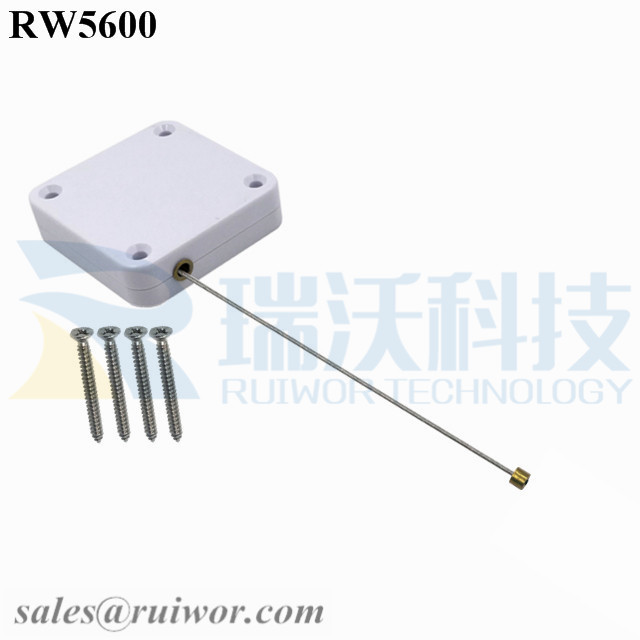 RW5600 Square Heavy Duty Retractable Cable Work with Connectors for Various Products Security Display
