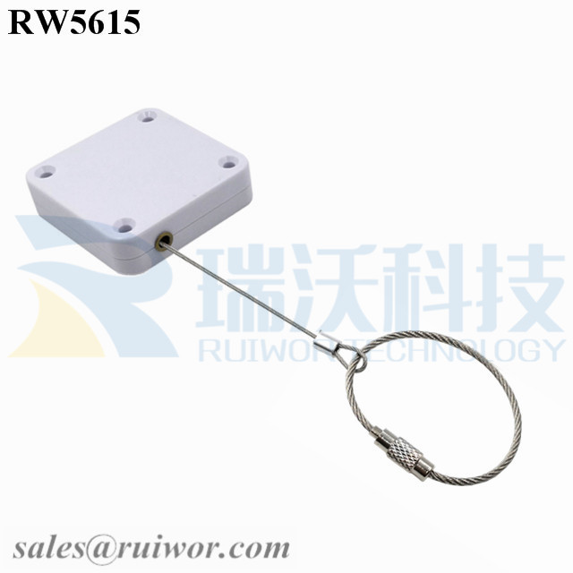 RW5615 Square Heavy Duty Retractable Cable Plus Wire Rope Ring Catch
