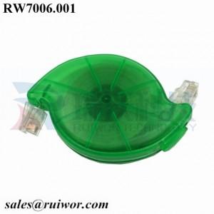 RW7006 RJ11 4P4C Sensor Cable Retractor Take-up box for alarm device