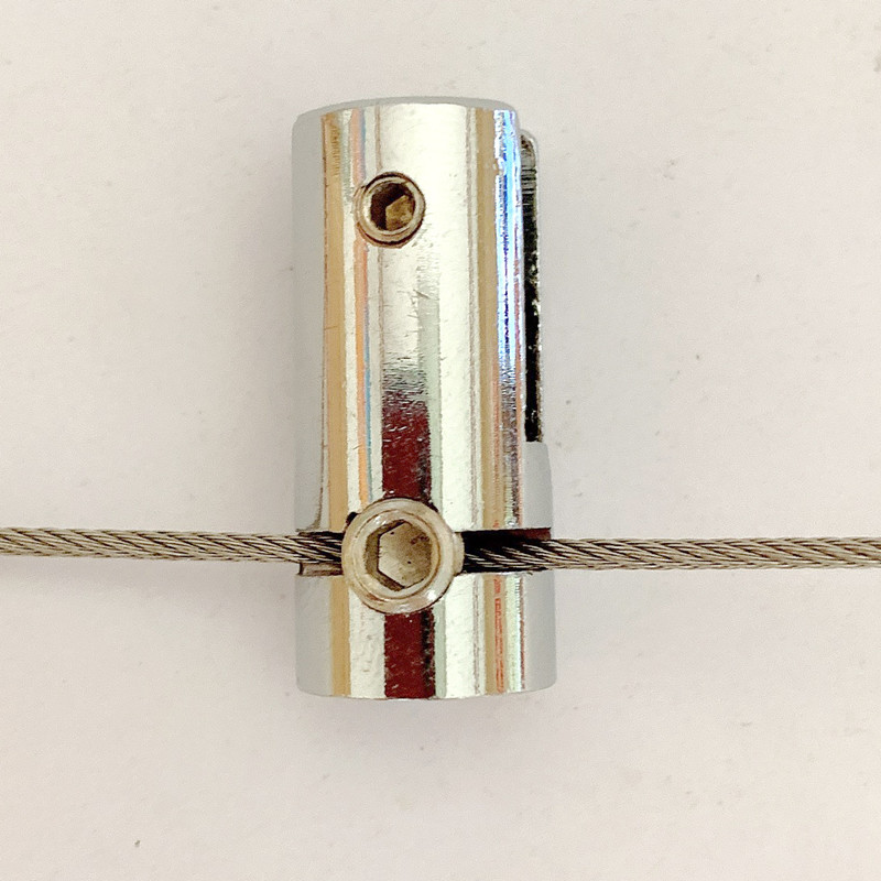 High Quality Cable Lock - RWCG001 Cable Gripper Wire Rope Hanging Code Accessories Lockset Advertising Signs Hanging Light Box Acrylic Glass Hanging Code – Ruiwor